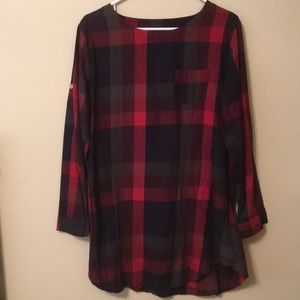 Plaid Dress size: L